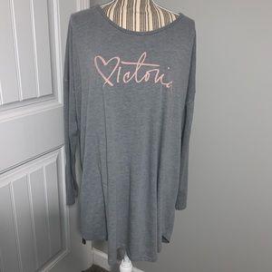 Victoria Secret Gray Nightgown size XL